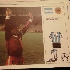 Coleccionismo deportivo: DIEGO MARADONA. FICHAS MUNDIAL 1982. IDEAL COLECCIONISTAS. Lote 228925125