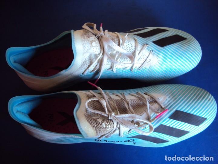 Coleccionismo deportivo: (F-201230)BOTAS DE MORATA AT.MADRID - FIRMADAS - MATCH WORN - Foto 12 - 229842160