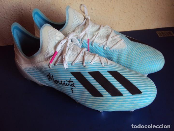 Coleccionismo deportivo: (F-201232)BOTAS DE MORATA AT.MADRID - FIRMADAS - MATCH WORN - Foto 3 - 229842620