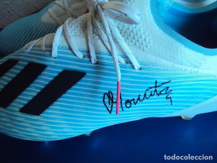 Coleccionismo deportivo: (F-201232)BOTAS DE MORATA AT.MADRID - FIRMADAS - MATCH WORN - Foto 5 - 229842620