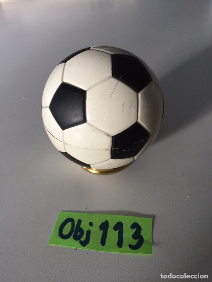 MECHERO DE MESA BALÓN FÚTBOL 1966 (Coleccionismo Deportivo - Material Deportivo - Fútbol)