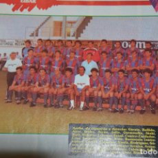Colecionismo desportivo: RECORTE DE DON BALON EXTRA LIGA 1988-89.FOTO DE LA PLANTILLA DEL SD EIBAR. Lote 231334140