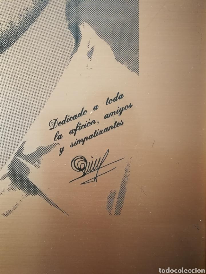 "Coleccionismo deportivo: Cuadro Enrique Castro ""Quini"" grabado sobre tipo bronce (Sporting Gijón) - Foto 2 - 231653125"
