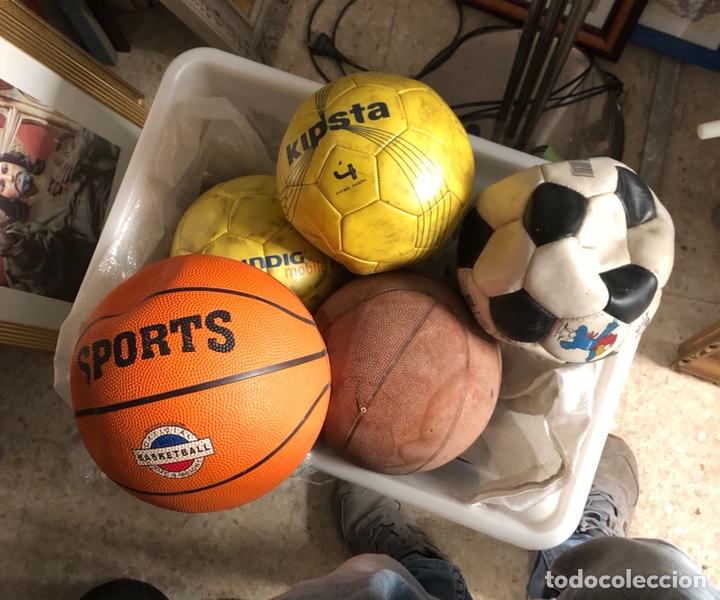 LOTE DE 5 BALONES, FÚTBOL Y BALONCESTO (Coleccionismo Deportivo - Material Deportivo - Fútbol)