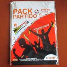 Coleccionismo deportivo: PACK PARTIDO PODEMOS MUNDIAL SUDAFRICA 2010 - SOBRE DE CUATRO TV. Lote 234709355