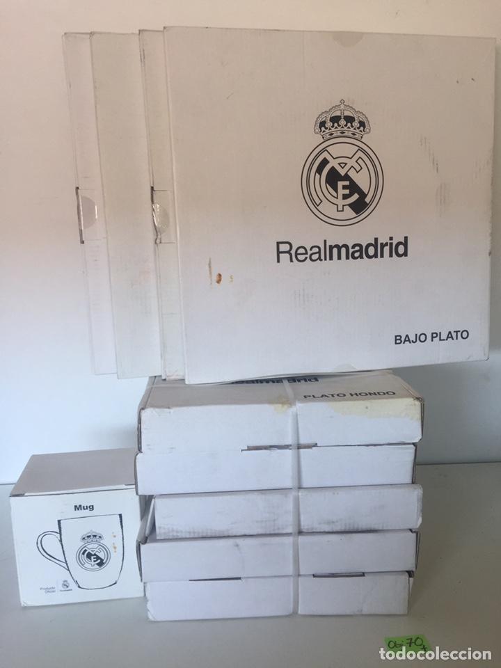 CONJUNTO DE PLATOS Y TAZA DEL REAL MADRID 10 PIEZAS (Coleccionismo Deportivo - Material Deportivo - Fútbol)