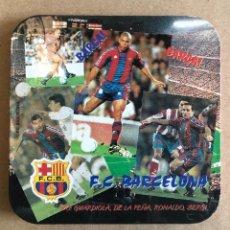 Coleccionismo deportivo: POSAVASOS FCBARCELONA FÚTBOL 90S RONALDO GUARDIOLA. IMPECABLE. Lote 237270550