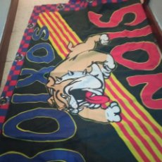 Coleccionismo deportivo: FC BARCELONA ULTRAS HOOLIGAN BOIXOS NOIS FLAG BANDERA BUFANDA FUTBOL SCARF FOOTBALL. Lote 237371785