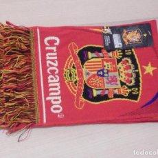 Coleccionismo deportivo: BUFANDA - FOULARD - F.C. - FUTBOL CLUB - ESPAÑA - SELECCIÓN ESPAÑOLA - CRUZCAMPO - 20 X 1,30 CM. Lote 238699690