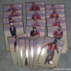 Coleccionismo deportivo: 28 LÁMINAS DEL F.C. BARCELONA TEMPORADA 1998/99. Lote 243154710