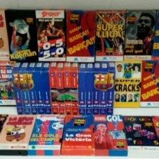 Coleccionismo deportivo: COLECCIÓN DE CINTAS VÍDEO VHS. FÚTBOL LIGA. BARÇA. FÚTBOL CLUB BARCELONA. SUPER CRAKS,.... Lote 243836495