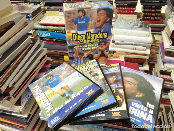 DIEGO ARMANDO MARADONA EN IMÁGENES . 4 DVDS . NÁPOLES, BARCELONA , ARGENTINA, BOCA JUNIORS. FÚTBOL (Coleccionismo Deportivo - Material Deportivo - Fútbol)