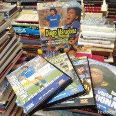 Coleccionismo deportivo: DIEGO ARMANDO MARADONA EN IMÁGENES . 4 DVDS . NÁPOLES, BARCELONA , ARGENTINA, BOCA JUNIORS. FÚTBOL. Lote 244704535