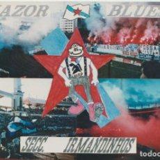 Colecionismo desportivo: FOTOMONTAJE RIAZOR BLUES DEPORTIVO LA CORUÑA ULTRAS HOOLIGANS. Lote 245399125