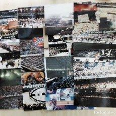 Colecionismo desportivo: LT 3 20 FOTOGRAFÍAS Y FOTOMONTAJES DE ULTRAS DE FUTBOL HOOLIGANS BARCELONA MADRID SPORTING MARSELLA. Lote 245490665