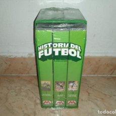 Coleccionismo deportivo: HISTORIA DEL FUTBOL METROVIDEO 3 VHS. Lote 245943590