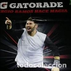 Coleccionismo deportivo: POSTER SERGIO RAMOS GATORADE. Lote 248357460