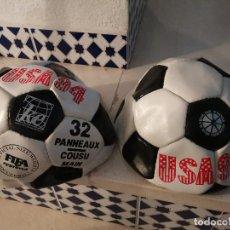 Coleccionismo deportivo: RAREZA COLECCIONISTAS UNICOS BALONES SIN USO CUERO ORIGINAL DE EPOCA MUNDIAL FUTBOL USA 94 FIFA. Lote 249032985