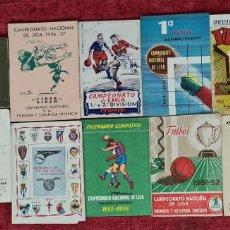 Coleccionismo deportivo: COLECCION DE 12 CALENDARIOS DEPORTIVOS. CAMPEONATO DE LIGA. AÑOS 50.. Lote 253094055