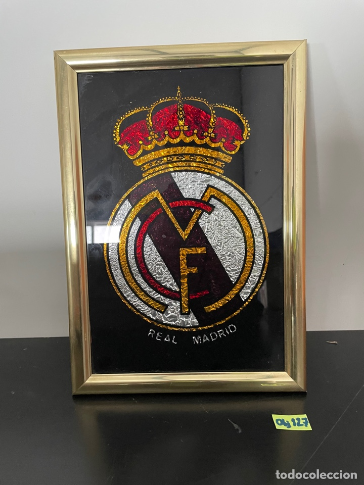 CUADRO ESCUDO REAL MADRID (Coleccionismo Deportivo - Material Deportivo - Fútbol)