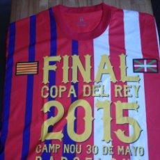 Coleccionismo deportivo: CAMISETA CONMEMORATIVA FINAL COPA DEL REY F. C. BARCELONA/AT BILBAO, TALLA XL. Lote 256047655