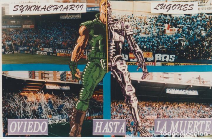 FOTOMONTAJE SYMMACHIARII OVIEDO ULTRAS HOOLIGANS (Coleccionismo Deportivo - Material Deportivo - Fútbol)