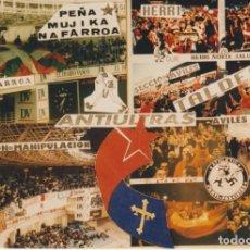 Coleccionismo deportivo: FOTOMONTAJE PEÑA MUJIKA REAL SOCIEDAD Y HERRI NORTE ATHLETIC BILBAO. Lote 261935045