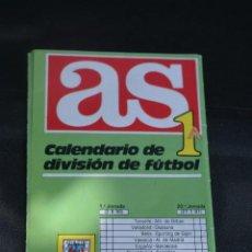 Coleccionismo deportivo: CALENDARIO DESPLEGABLE DIARIO AS TEMPORADA 1990-91. 1ª Y 2ª DIVISIÓN. Lote 261983550