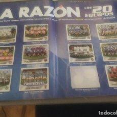 Coleccionismo deportivo: ALBUN LIGA ESTE 2003 2004 03 04 449 CROMOS + HOJAS CENTRALES LA RAZON CON 19 ALINEACIONES PERFECTO. Lote 262489470