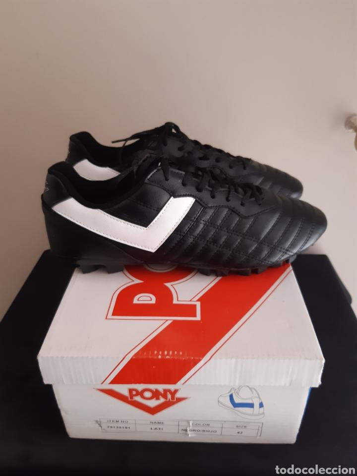 Coleccionismo deportivo: Zapatos/botas de futbol Pony Multitaco. - Foto 2 - 262519040