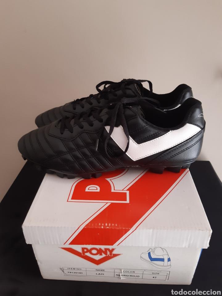 Coleccionismo deportivo: Zapatos/botas de futbol Pony Multitaco. - Foto 4 - 262519040