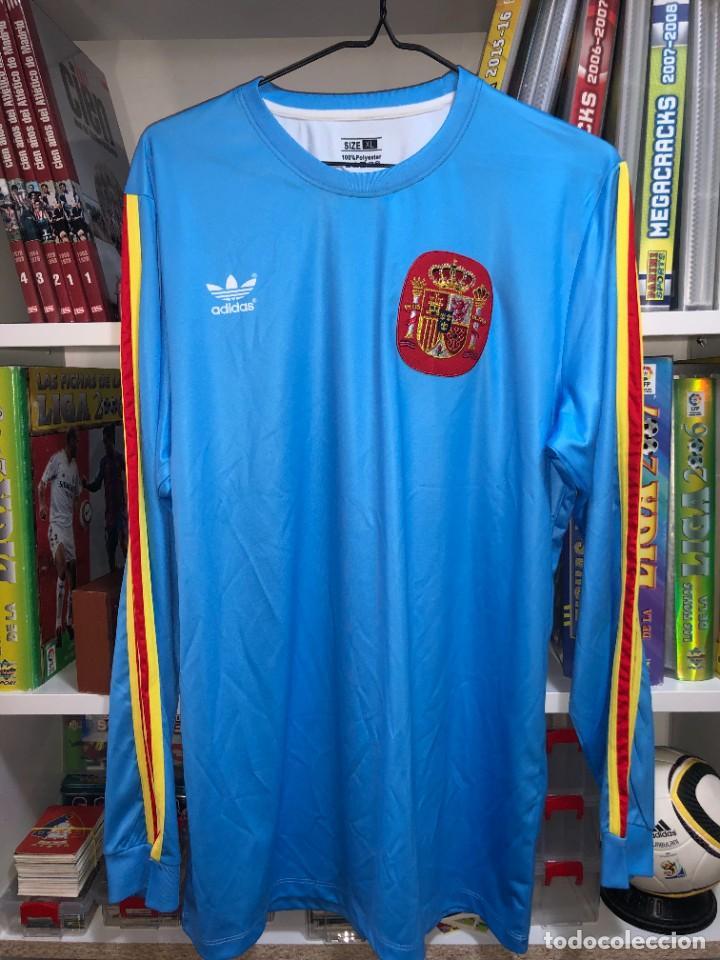 CAMISETAS ESPAÑA VINTAGE ARCONADA REEDICION (Coleccionismo Deportivo - Material Deportivo - Fútbol)