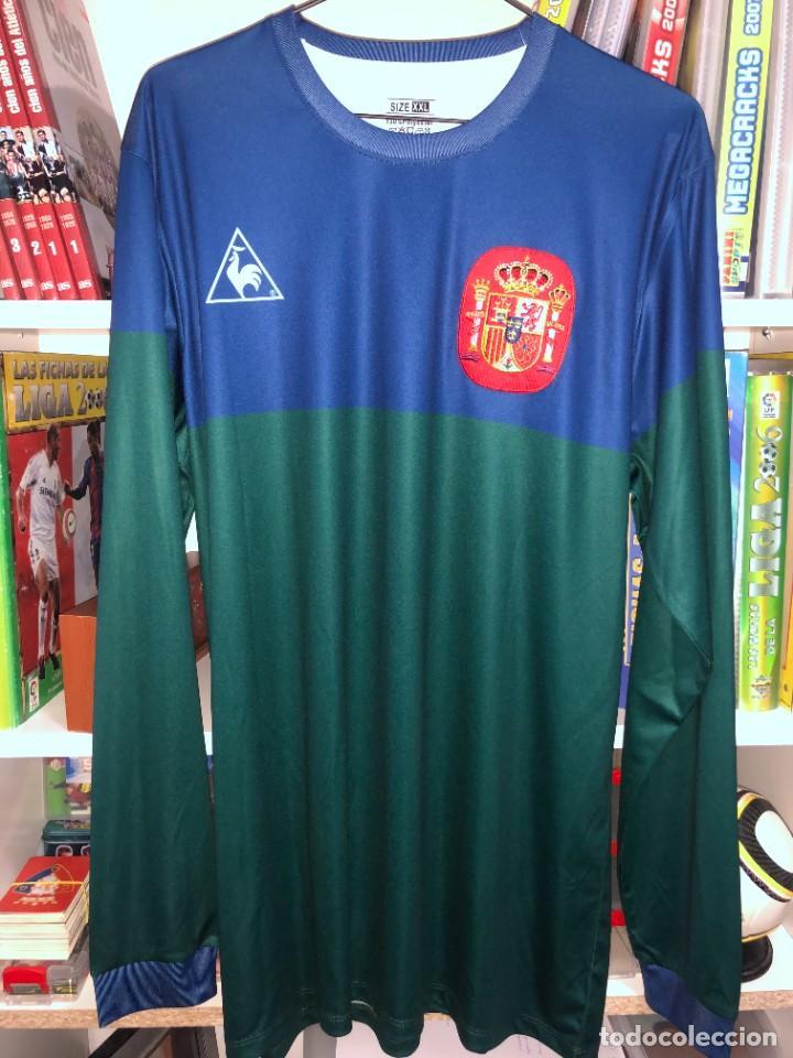 Coleccionismo deportivo: Camisetas ESPAÑA vintage ARCONADA reedicion - Foto 3 - 262521255