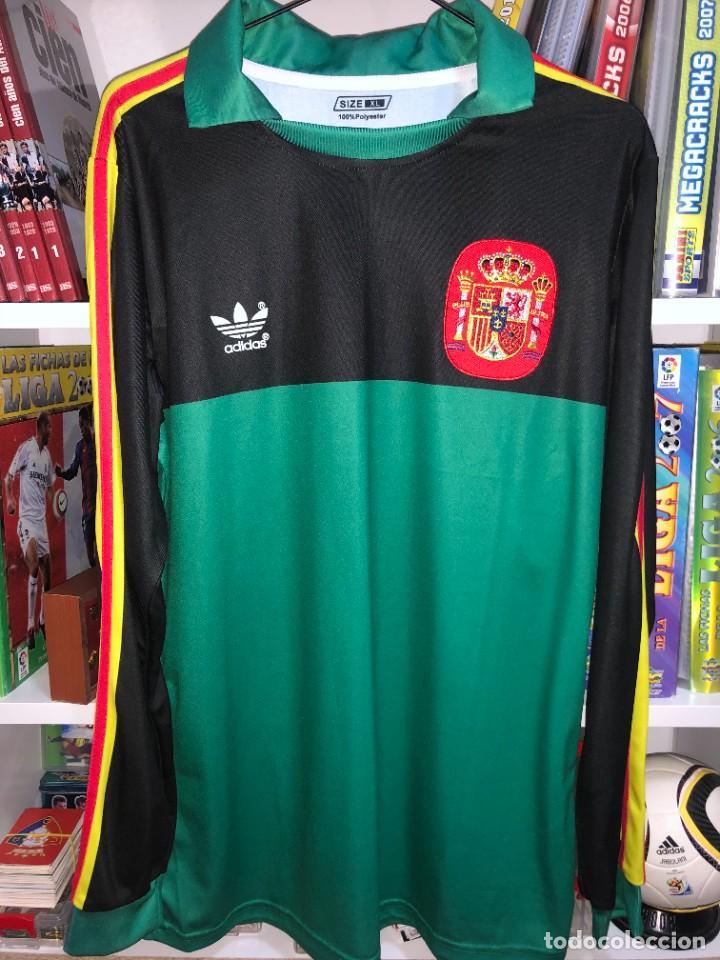 Coleccionismo deportivo: Camisetas ESPAÑA vintage ARCONADA reedicion - Foto 7 - 262521255