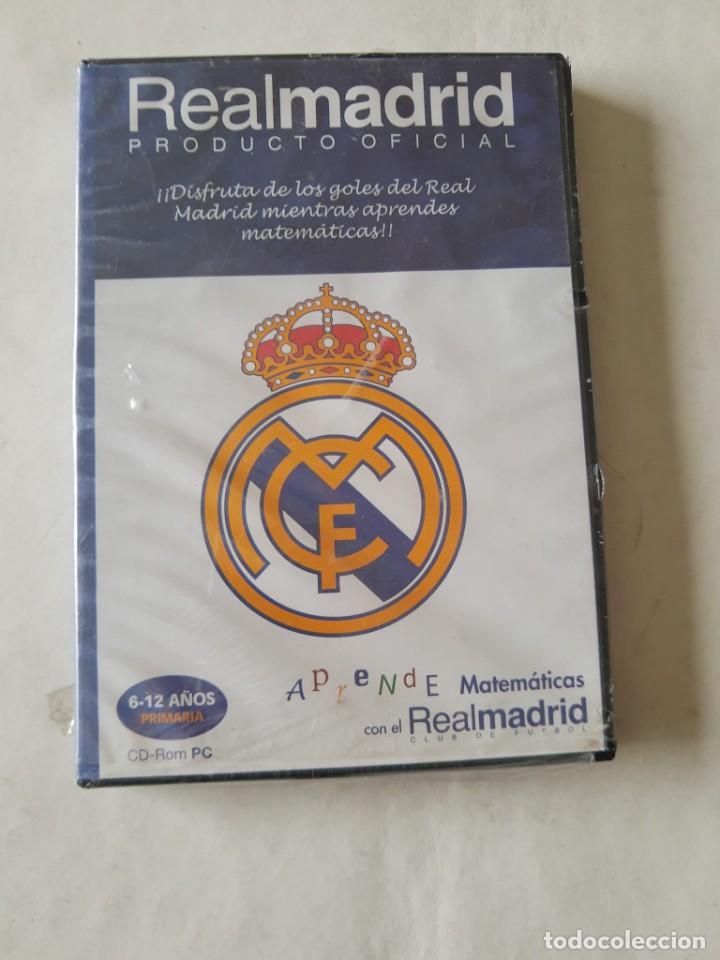 CD-ROM PC APRENDE MATEMATICAS CON EL REAL MADRID - 6-12 AÑOS PRIMARIA. NUEVO (Coleccionismo Deportivo - Material Deportivo - Fútbol)