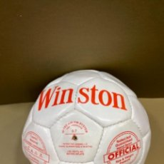 Coleccionismo deportivo: BALÓN PELOTA FÚTBOL CUERO WINSTON MED. APROX. 20 CMS. (GN). Lote 263270760
