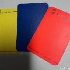 Coleccionismo deportivo: TRES TARJETAS DE ARBITRO.. Lote 263593215