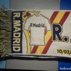 Coleccionismo deportivo: BUFANDA FOULARD - F.C. FUTBOL CLUB - REAL MADRID - CAMPEONES 18-2- 2014/15 - 19 X 30 CM - SCHALKE 04. Lote 265478264