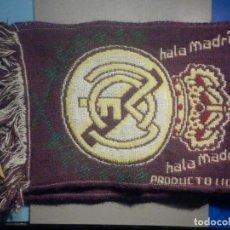 Coleccionismo deportivo: BUFANDA FOULARD - F.C. FUTBOL CLUB - REAL MADRID - 20 X 120 CM -. Lote 265479289