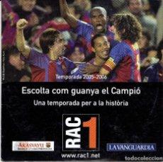 Coleccionismo deportivo: CD ESCOLTA COM GUANYA EL CAMPIO, TEMPORADA 2005 2006. Lote 266052853