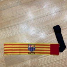 Collezionismo sportivo: MESSI FC BARCELONA 2020/21 BRAZALETE DE CAPITÁN DESGASTADO USADA / MATCH WORN CAPTAIN ARMBAND. Lote 266797449