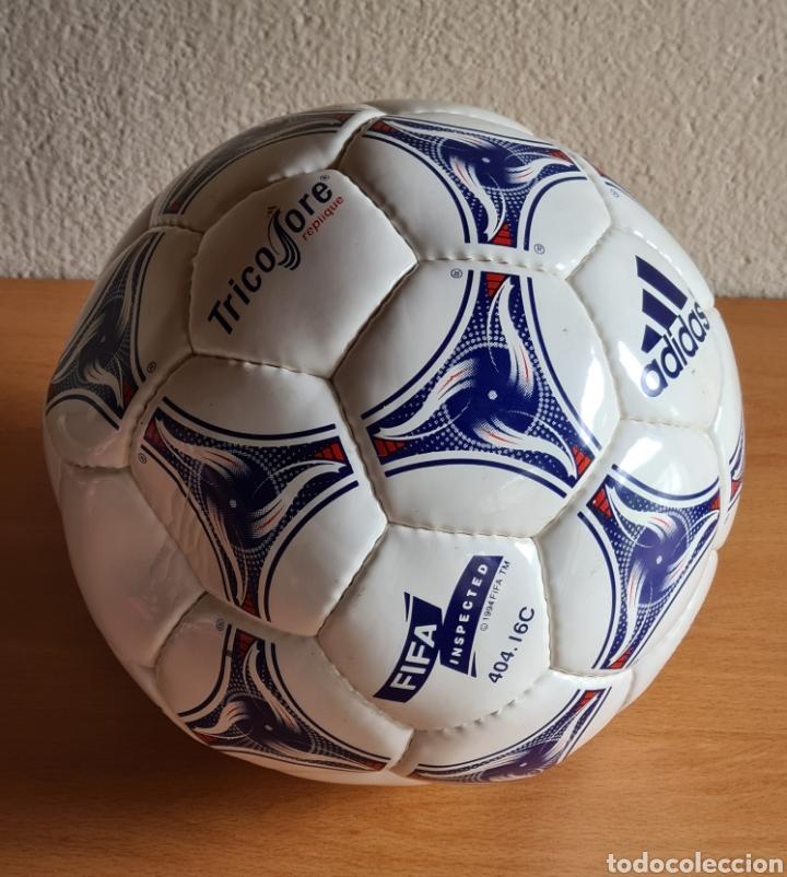 Coleccionismo deportivo: Balón Adidas Tricolore Mundial Fútbol Francia 1998 Official World Cup Ball Soccer - Foto 7 - 268845754