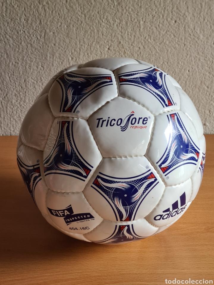 Coleccionismo deportivo: Balón Adidas Tricolore Mundial Fútbol Francia 1998 Official World Cup Ball Soccer - Foto 8 - 268845754