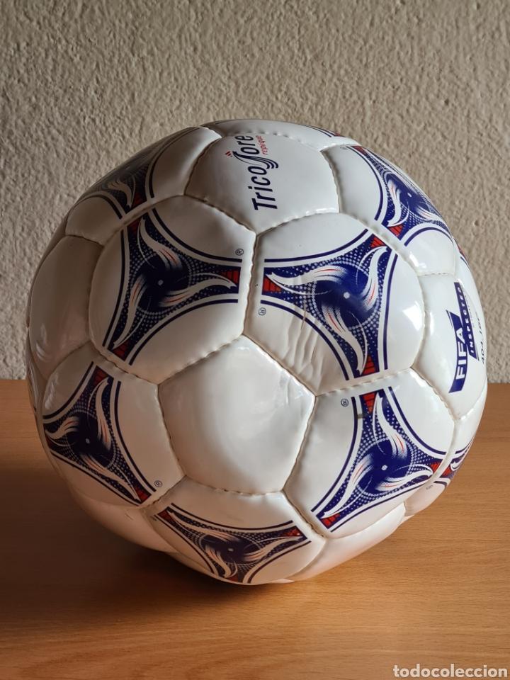 Coleccionismo deportivo: Balón Adidas Tricolore Mundial Fútbol Francia 1998 Official World Cup Ball Soccer - Foto 10 - 268845754