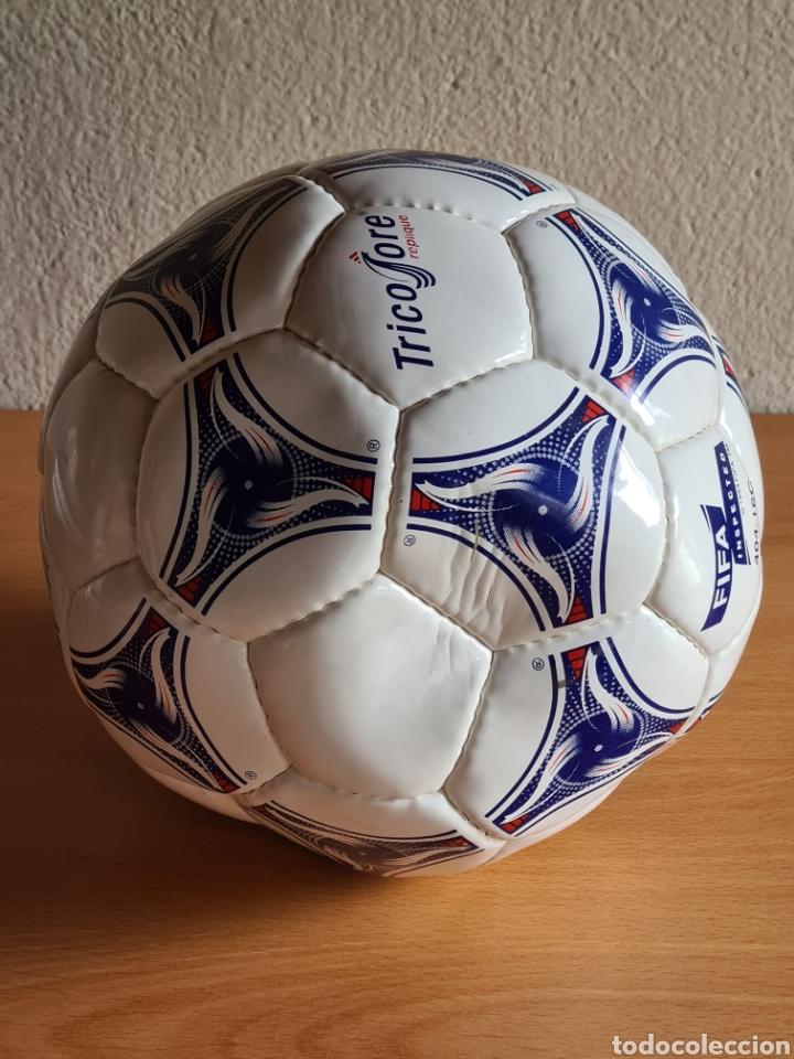 Coleccionismo deportivo: Balón Adidas Tricolore Mundial Fútbol Francia 1998 Official World Cup Ball Soccer - Foto 11 - 268845754