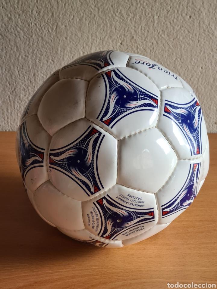 Coleccionismo deportivo: Balón Adidas Tricolore Mundial Fútbol Francia 1998 Official World Cup Ball Soccer - Foto 12 - 268845754