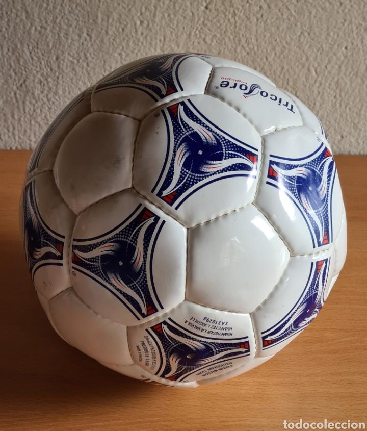 Coleccionismo deportivo: Balón Adidas Tricolore Mundial Fútbol Francia 1998 Official World Cup Ball Soccer - Foto 14 - 268845754