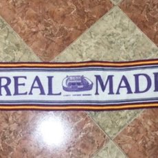 Coleccionismo deportivo: BUFANDA REAL MADRID ANTIGUA FINALES 80-90S RETRO. Lote 271463758