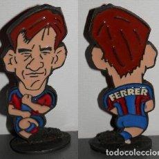 Coleccionismo deportivo: FIGURA METÁLICA DEL FUTBOL CLUB BARCELONA DE LA TEMPORADA 1998/99 - FERRER. Lote 277160573