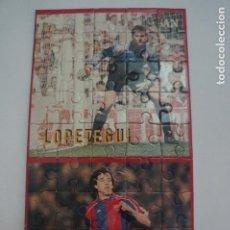 Coleccionismo deportivo: PUZZLE DE LOPETEGUI E IVAN DEL F.C.BARCELONA SUPER BARÇA 96 DEL MUNDO DEPORTIVO HAZTE CON EL. Lote 277589228
